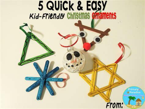 5 quick easy kid friendly christmas ornaments
