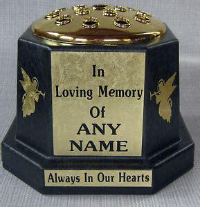 Memorial Vases For Uk by Memorial Vase Pot Grave Black Gold Lid Personalised