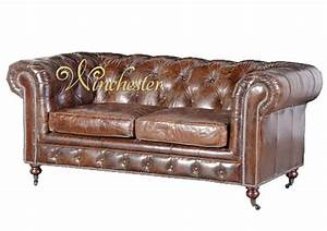 Sofa Vintage Leder : vintage leather 2 seat chesterfield sofa ~ Indierocktalk.com Haus und Dekorationen