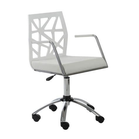 white modern desk chair office chair modern richfielduniversity with regard to