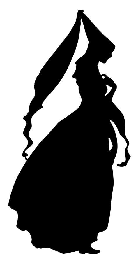 onlinelabels clip art  century fashion silhouette