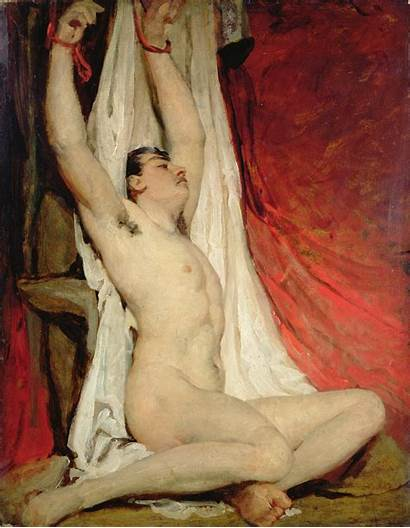 Male Arms Stretched Etty William Controversial Artist