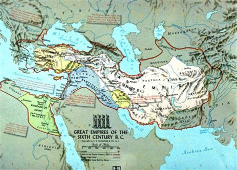 Persian Empire Map During King Cyrus The Great