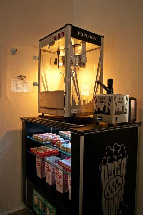 diy concessionpopcorn machine stand  home