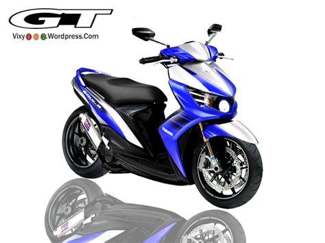 Modifikasi Mio Soul Biru by Modif Mio Soul Gt Biru Putih Modifikasi Motor Kawasaki