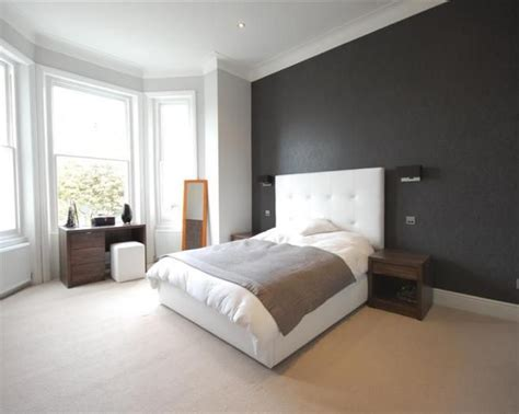 Bedroom Feature Wall Ideas Grey by Photo Of Cool Black White White Leather Bedroom With