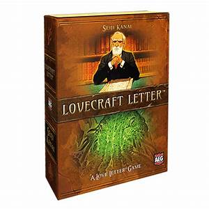 Lovecraft letter a love letter card game the gamesmen for Lovecraft letter board game