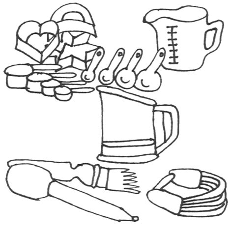 Coloring Utensil by Baking Utensils Coloring Pages Coloring Pages