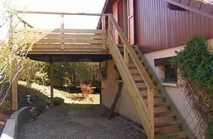 Escalier Terrasse Bois : terrasse bois escalier bois et garde corps bois en pin ~ Nature-et-papiers.com Idées de Décoration