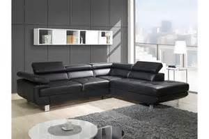 Canapé Angle Relax Cuir by Indogate Com Salon Avec Canape Noir