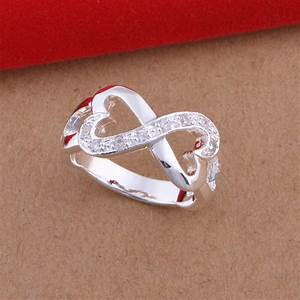 genuine cz heart forever love infinity ring best friend With best friend wedding ring