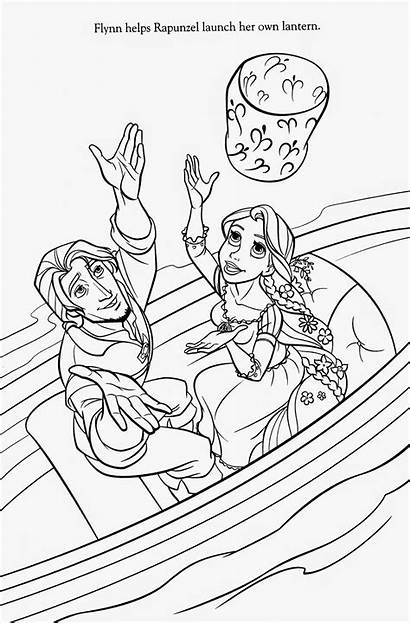 Tangled Coloring Pages Rapunzel Printable Filminspector Pascal
