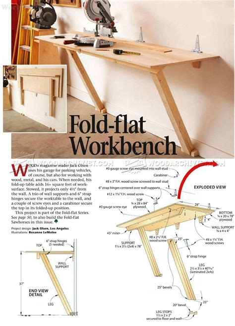 fold  workbench plans workshop solutions projects