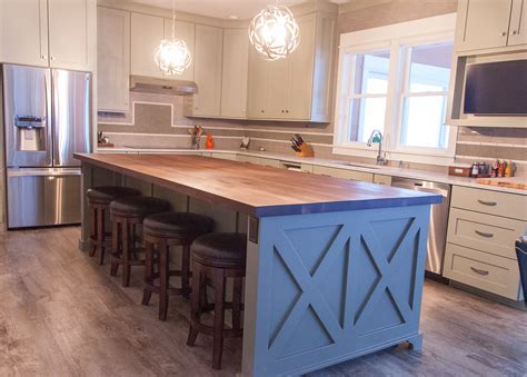 stainless steel kitchen island with butcher block top farmhouse chic sleek walnut butcher block countertop