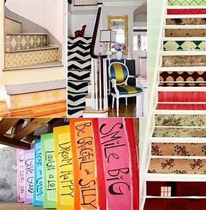 pretty stair decor on decal home diy decor wall sticker With kitchen cabinet trends 2018 combined with stair riser stickers