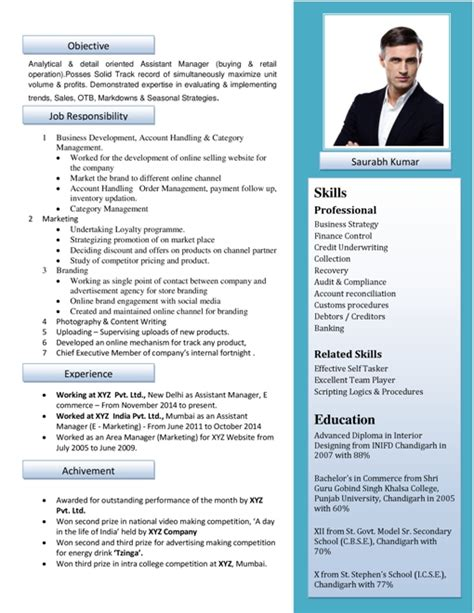 Photo In Resume by Free Resume Formats Sle Resume Format Resume Templates Resumewritingexperts In