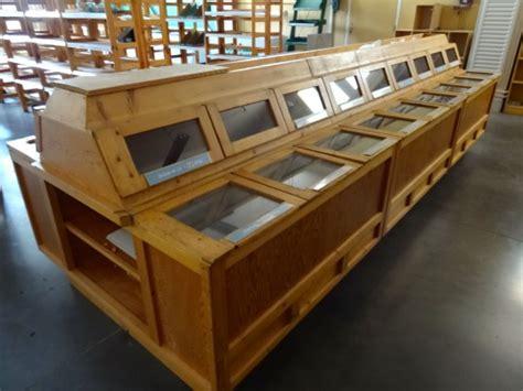 vente materiel cuisine ilot central bois libre service 3m60 rayon vrac magasin