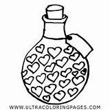 Colorare Disegni Coloring Cuori Potion Pozione Amore sketch template