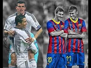 Bale and Cristiano Ronaldo vs Neymar and Messi - YouTube