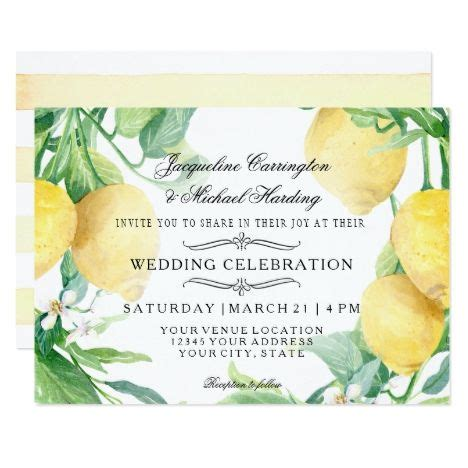 Horizontal Lemon Floral Flower Wreath Citrus Arr