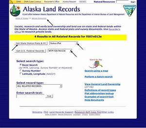 using the dnr alaska land records With land documents search