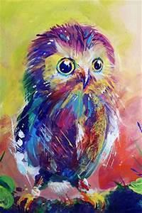 Neon Owl by Amanda North Art Pinterest