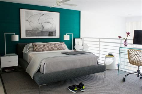 chambre turquoise bleu turquoise et gris en 30 idées de peinture et décoration