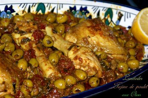 recette de cuisine cuisse de poulet tajine de poulet aux olives zeste de citron et tomates