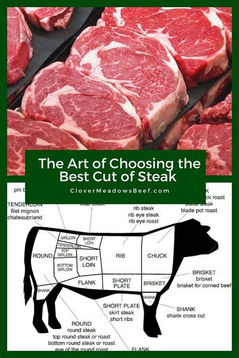 art  choosing   cut  steak clover meadows