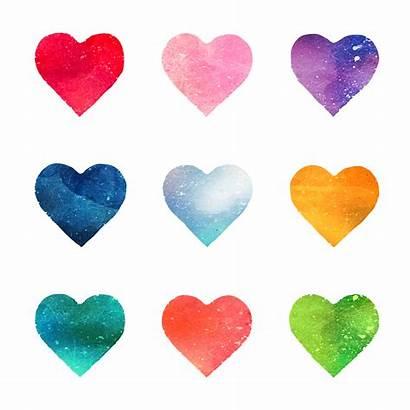 Hearts Watercolor Heart Brush Freepik Cuori Premium
