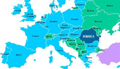 romania map  europe travelsfinderscom