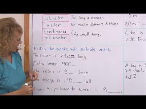 common metric units  length kilometers meters
