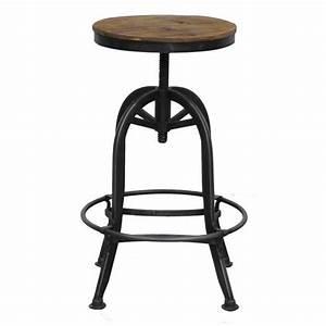 Tabouret Industriel Reglable : achat tabouret de bar r tro meubles fabric au style industriel ~ Teatrodelosmanantiales.com Idées de Décoration