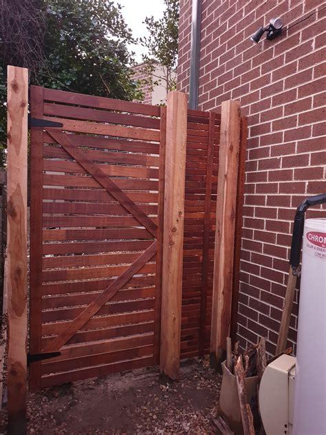 merbau side gate  panel bunnings workshop community