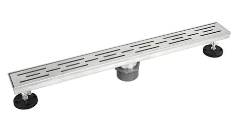 drain cost per linear foot shower linear drain 36 inch stripe pattern grate brushed 304 stainless steel threaded
