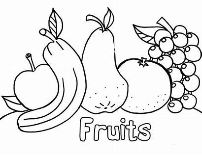 Coloring Fruit Pages Vegetable Nutrition Fruits Colouring