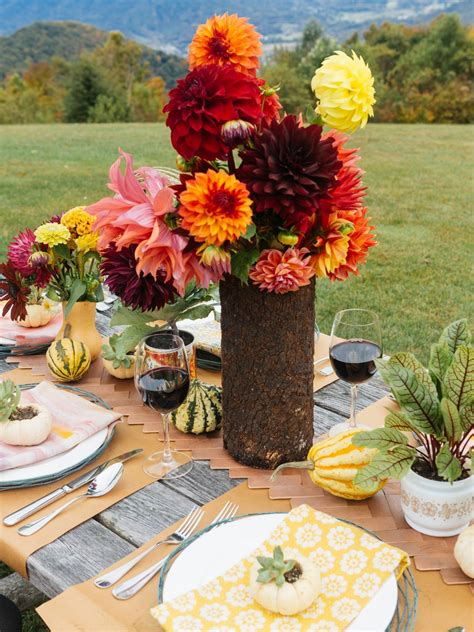 thanksgiving outdoor table decorations photo page hgtv