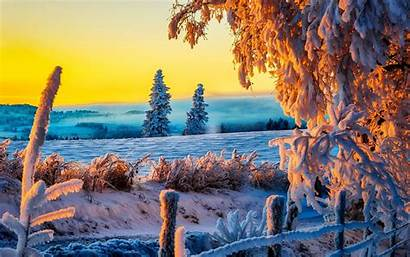 4k Winter Ultra Sunrise Desktop Wallpapers Snow