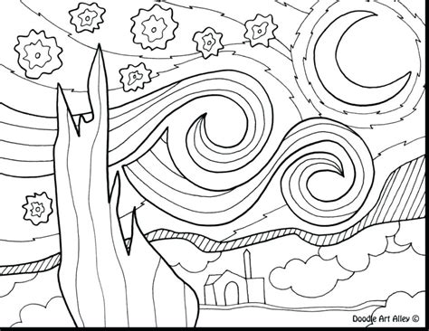 night sky coloring page at getcolorings com free