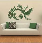 Wall Stickers Decoration Artistic About Floral Decorative Bird Wall Stickers Wall Art Decals Transfers
