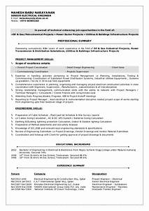 mbn cv senior electrical engineer With sample resume for electrical engineer in construction field