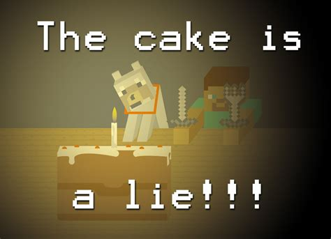 the cake is a lie minecraft the cake is a lie by boem777 on deviantart