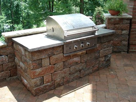 outdoor kitchens and bbq surrounds traditional patio other metro by allan block