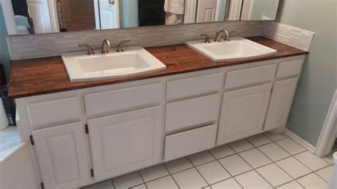 How To Make A Wooden Countertop For Your Bathroom  Splendry. Exterior Dutch Doors For Sale. Country Kitchen Sinks. Coastal Throw Pillows. Curtains For Closet Doors
