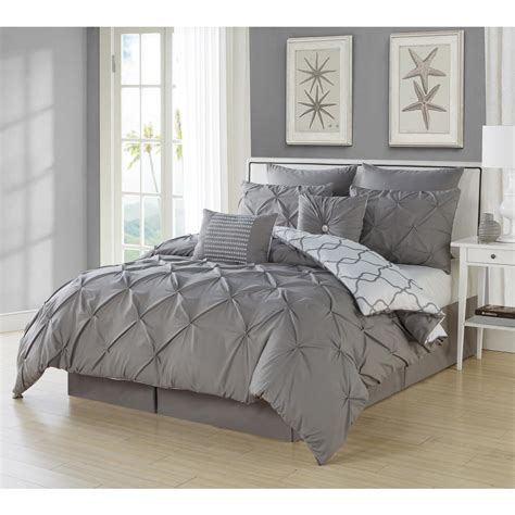 black pintuck comforter duck river esy pintuck reversible grey 8