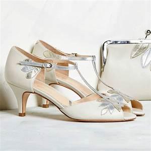 Isla Ivory Leather Wedding Shoes By Rachel Simpson