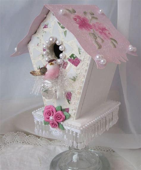 shabby chic birdhouse diy shabby birdhouse topiary how to pretty birdhouses pinterest