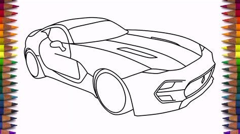 supercar drawing how to draw supercar vlf force 1 drawing easy step by step