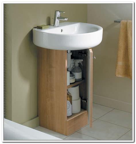 how to attach a pedestal sink to the wall under sink storage for pedestal sinks home design ideas