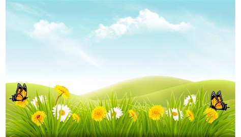 Background Images by Nature Background With Grass Illustrations Creative Market